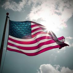 Patriotic American Flag Photograph for Memorial by TommieSPhoto