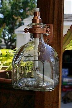 2 Patron Tequila Tiki Torch / Oil Lamps including bottle & hardware Copper/Brass - Outdoor Lighting - Ideas of Outdoor Lighting Patron Tequila, Backyard Lighting, Porch Lighting, Lighting Ideas, Lighting Design, Bar Lighting, Liquor Bottles, Glass Bottles, Tiki Torches & Oil Lamps