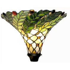 Tiffany-style Green Leaf Torchiere Lamp - Overstock™ Shopping - Great Deals on Warehouse of Tiffany Tiffany Style Lighting