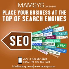Now days every business want to be listed on top of all search engines to increase ROI, brand awareness, website sales, organic traffic and more. But to get these desired things, we have to find a professional SEO consultant to make effective strategies by using different seo factors.   And, We at Mamsys World, have a skilled digital marketing team to provide you all required online marketing activities at cost-effective prices.  #SEOServices #DigitalMarketing #Business