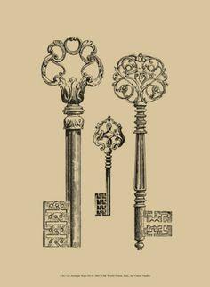 Antique Keys III Posters at AllPosters.com