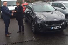 Mr Davey collected one of our All-New ‪ Kia Sportage SUVs. Clearly a very popular vehicle! Kia Sportage, Driving Test, Cars For Sale, Plate, Brand New, Popular, News, Vehicles, Collection