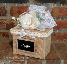 Wedding Card Basket, Wedding Gift Card Box, Money Box Wedding, Gift Card Boxes, Wedding Boxes, Wedding Guest Book, Wedding Cards, Wedding Invitations, Wedding Table