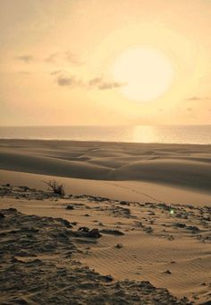 Pretty sunset on the island of Boa Vista, Cape Verde - Kaapverdie