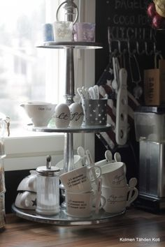 Love this idea for the kitchen. Nice to have by the coffee machine