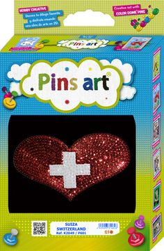 Kit Pins Art Suiza / Switzerland - DIY - Hand made with love
