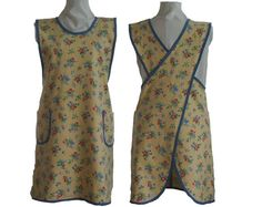Apron Full Coverage Wrap  No Tie  Yellow Cotton by timelessaprons, $40.00