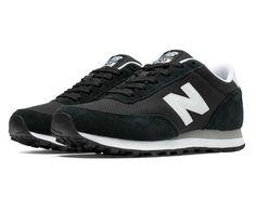 501 New Balance, Black with White