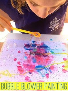 Bubble Blower Painting | Childhood101 #preschoolartsandcrafts #preschoolartprojects