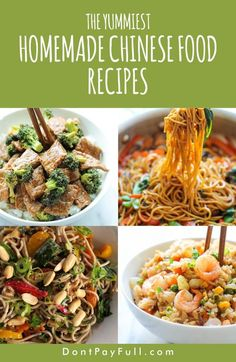 The Yummiest Homemade Chinese Food Recipes You Can Make on a Budget Love to order in Chinese food? Take care of your budget and start saving money by doing your favorite homemade Chinese food recipes! Homemade Chinese Food, Easy Chinese Recipes, Asian Recipes, Ethnic Recipes, Healthy Chinese Food, Chinese Food Buffet, Chinese Dinner, Korean Food, Cooking On A Budget
