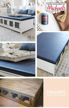 This new DIY paing transforms projects into a beautiflu suede look! Unfinished Furniture, Home Decor Items, Art Supplies, Texture, Storage, Wood, Projects, Diy, Painting