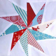 Paper-pieced pinwheel