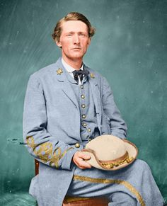 Shorpy Historical Photo Archive :: John Singleton Mosby (Colorized)  The greatest Guerrilla commander produced by the entire war.
