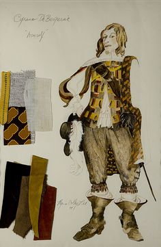I was questioning the attire that would pertain to the time period of Cyrano de Bergerac here's a design of costume to give you a glimpse. Broadway Costumes, Cool Costumes, Costume Design Sketch, 17th Century Fashion, Punch And Judy, Fantasy Princess, Art Of Love, Beautiful Costumes, Fantasy Dress