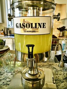 DIY Construction Party Beverage- Gasoline for Lemonade | all dressed up with nothing to drink...