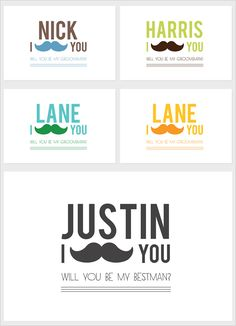 will you be my groomsman free printable cards