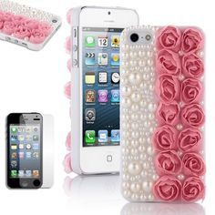 Pandamimi ULAK(TM) Fashion Sweety Girls Hand Made 3D Lace Rose Flower and Bling Pearl Diamond Hard Case Cover for iPhone 5 5G Pink with Screen Protector by ULAK(TM), http://www.amazon.com/dp/B00BXAMKGI/ref=cm_sw_r_pi_dp_ScNsrb08WXE2D