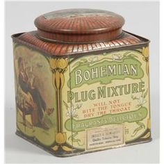 Bohemian Plug Mixture Tobacco Tin.