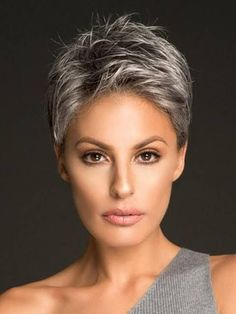 Image result for grey pixie cuts Silver Color, Silver Paint