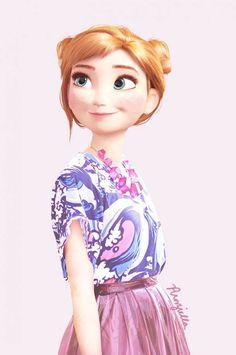 """Décidément les personnages et les princesses Disney sont source d'inspiration ! Après """"Les princesses Disney changent de pays et de culture"""" et """"Les princess"""
