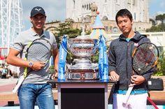 Rafa Nadal and Kei Nishikori in Barcelona 2016