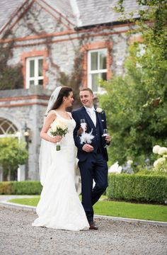 Picture perfect newlyweds stroll through Ballymagarvey Village grounds Wedding Car, Our Wedding, Wedding Venues, Wedding Photos, Wedding Dresses, Newlyweds, Real Weddings, Wedding Photography, Elegant
