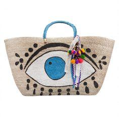 Green Evil Eye Tote - Bags