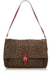 1899024fa915 Fendi Pre-owned  Leopard Printed Canvas Shoulder Bag.