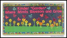 "Kinder ""GARDEN"" Bulletin Board: Where Minds Bloom and Grow via RainbowsWithinReach"