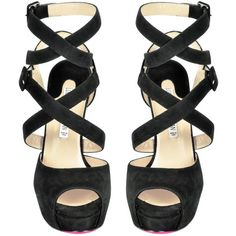 Luciano Padovan Black Suede Platform Sandal (14,230 MKD) ❤ liked on Polyvore featuring shoes, sandals, heels, black platform sandals, black suede sandals, suede sandals, strap sandals and black suede shoes