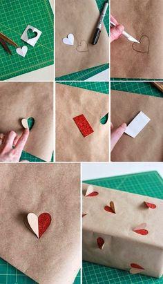 Envuelve los regalos con un papel decorado por ti,un papel con mucho corazón . | Decora y diviértete