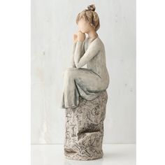 This beautiful figurine is one of the latest releases from Willow Tree and will make a beautiful addition to your collection of Willow Tree pieces. It depicts a young woman with her hair in a bun and