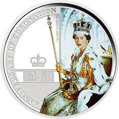 オーストラリア 2013年 女王エリザベス2世戴冠式60周年記念 1ドルカラー銀貨 プルーフ