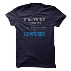 COMPOSER T-Shirts, Hoodies. VIEW DETAIL ==► Funny Tee Shirts