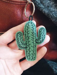 MINI cactus succulent interior plant green keychain felt embroid illustration/graphic design urban jungle sun garden tropical hand-made Mini Cactus, Cactus Flower, Flower Bookey, Flower Film, Flower Pots, Cute Crafts, Felt Crafts, Diy And Crafts, Cactus Keychain