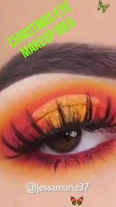 Festive eye makeup tutorial Ever wondered if it's possible to create something unique and festive out of Yellows and Reds and not make it look too complicated? This video tutorial is just great. Credit to @jessamarie37 #eleganziatoyou is happy to offer you products similar to those used in video #makeup #eyemakeup<br> Get your shadow skills bloomin' with this easy-to-use cult-favorite eyeshadow palette with 9 brightening matte & microshimmer shades that will become your everyday… Yellow Eye Makeup, Neutral Eye Makeup, Bright Eye Makeup, Dark Eye Makeup, Easy Makeup Tutorial, Makeup Tutorial For Beginners, Video Tutorials, Festival Eye Makeup, Festival Make Up