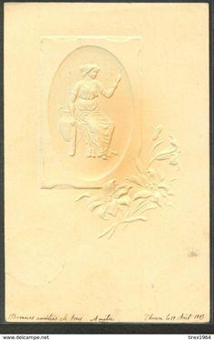 KG115 ART NOUVEAU KIRCHNER Style FEMME Style GREC Gaufrée LADY Embossed 1903 - Illustrateurs & Photographes