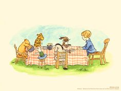 Free printouts of illustrations from the original Winnie the Pooh stories by A.A. Milne...These would be so cute to put in a nursery!