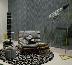 Missoni Home. Love the layering of patterns and textures.