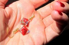 Elegant Origami earrings  Hexahedron by ArsOrigami on Etsy, €12.00