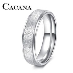 CACANA Fashion Simple Ring Female Fashion Stainless Steel Ring Colour Scrub Rings 316L Stainless Steel Rings For Women $3.99   #model #shopping #fashionista #stylish #fashion #sweet #style #beautiful #iwant #glam #cute #instastyle #streetstyle #cool #instalike
