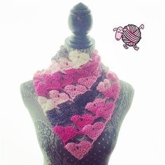 Crocheted hearts join to make this fabulous crochet shawl. Love Triangle Shawl - Media - Crochet Me