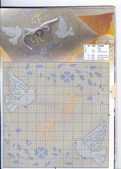 cuscino portafedi con colombe (3) - magiedifilo.it punto croce uncinetto schemi gratis hobby creativi