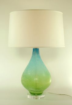Green Glass Table Lamp Shade