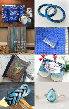 Divine Handmade Blue Gifts by Gail Thornton on Etsy--Pinned with TreasuryPin.com