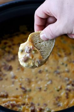 Slow Cooker Sweet Heat Kielbasa Dip.  Jalapeno, hot sauce, and apricot preserves…