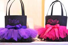 Personalized Purple & Black Tutu Bag. $32.00, via Etsy.