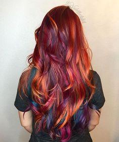   Bird of Paradise   #violetthestylist #bouffantbabes #btconeshot_color16 #btconeshot_rainbow16 #btconeshot_hairpaint16 #btconeshot_transformations16