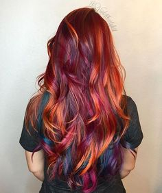 | Bird of Paradise | #violetthestylist #bouffantbabes #btconeshot_color16 #btconeshot_rainbow16 #btconeshot_hairpaint16 #btconeshot_transformations16