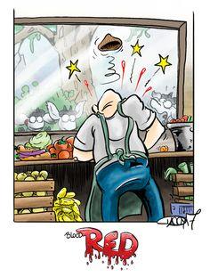 Week twenty-one: Red #goat #kids #food #vegetables #vegies #knife #blood #red
